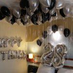סידור בלונים ליום הולדת 28