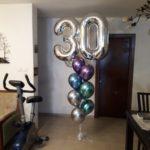 סידור בלונים ליום הולדת 30