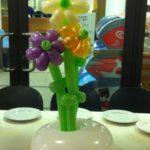 בלונים בצורת פרחים לסידור שולחן