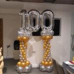 סידור בלונים ליום הולדת 100